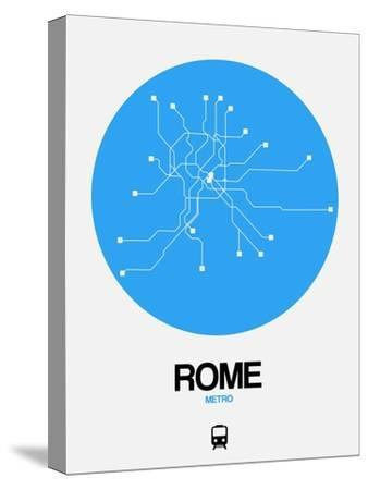 Rome Blue Subway Map