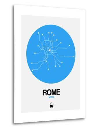 Rome Blue Subway Map