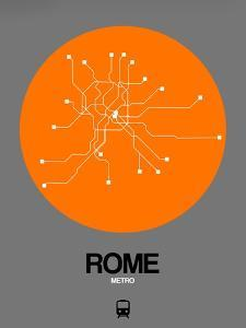 Rome Orange Subway Map by NaxArt