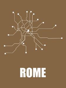 Rome Subway Map II by NaxArt