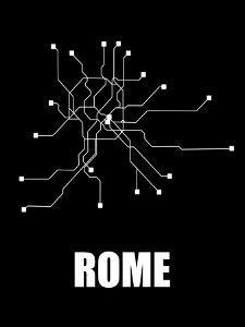 Rome Subway Map III by NaxArt