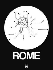 Rome White Subway Map by NaxArt