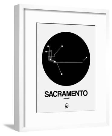 Sacramento Black Subway Map