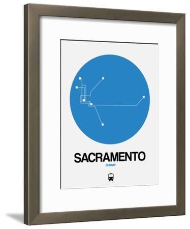 Sacramento Blue Subway Map