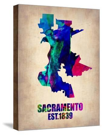 Sacramento Watercolor Map