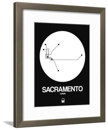 Sacramento White Subway Map
