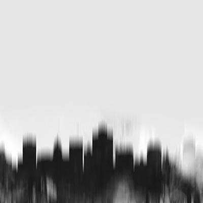 Salt Lake City Skyline - Black by NaxArt