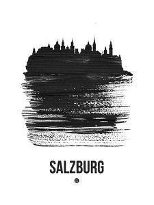 Salzburg Skyline Brush Stroke - Black by NaxArt
