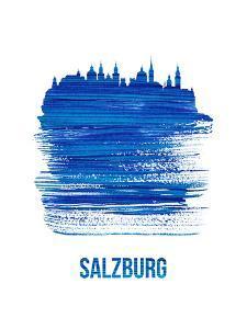 Salzburg Skyline Brush Stroke - Blue by NaxArt