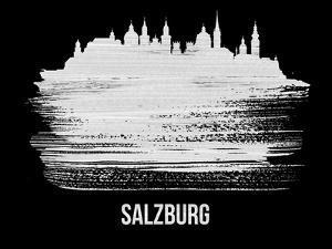Salzburg Skyline Brush Stroke - White by NaxArt
