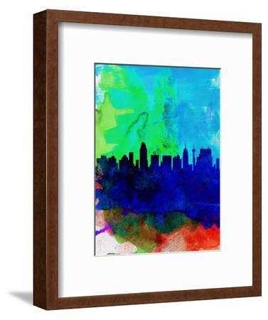San Antonio Watercolor Skyline