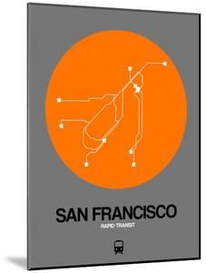 San Francisco Orange Subway Map by NaxArt