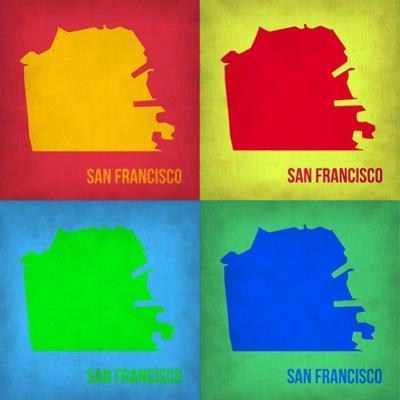 San Francisco Pop Art Map 1 by NaxArt
