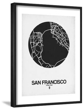 San Francisco Street Map Black on White