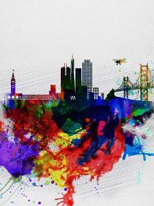 San Francisco Watercolor Skyline 1 by NaxArt
