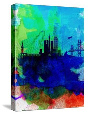 San Francisco Watercolor Skyline 2