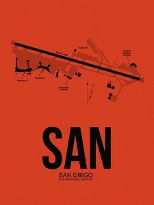 SAN San Diego Airport Orange by NaxArt