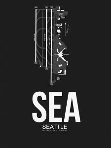 SEA Seattle Airport Black by NaxArt