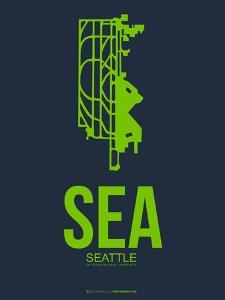 Sea Seattle Poster 2 by NaxArt