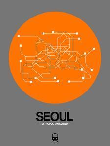 Seoul Orange Subway Map by NaxArt