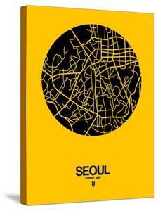 Seoul Street Map Yellow by NaxArt