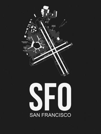SFO San Francisco Airport Black by NaxArt