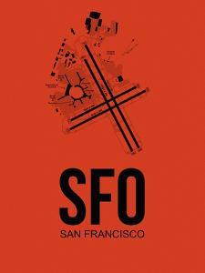 SFO San Francisco Airport Orange by NaxArt