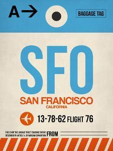 SFO San Francisco Luggage Tag 1 by NaxArt