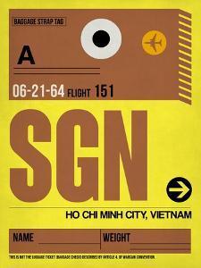 SGN Ho Chi Minh City Luggage Tag I by NaxArt