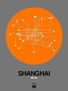 Shanghai Orange Subway Map by NaxArt