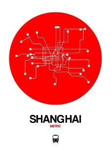 Shanghai Red Subway Map by NaxArt