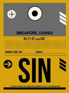 SIN Singapore Luggage Tag I by NaxArt
