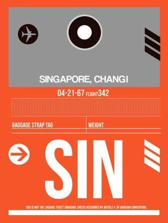 SIN Singapore Luggage Tag II
