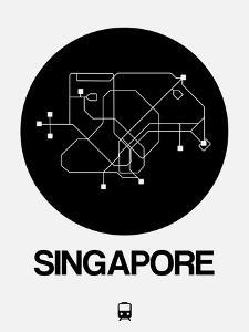 Singapore Black Subway Map by NaxArt
