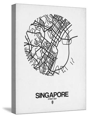 Singapore Street Map Blue