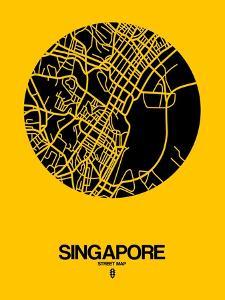 Singapore Street Map Yellow by NaxArt