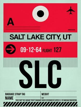 SLC Salt Lake City Luggage Tag I by NaxArt
