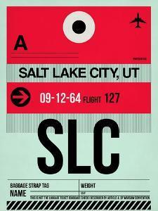 SLC Salt Lake City Luggage Tag I by NaxArt