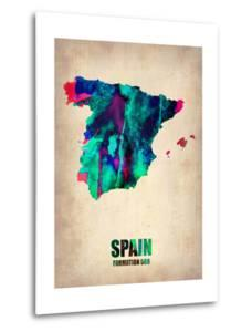 Spain Watercolor Map by NaxArt