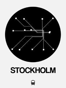 Stockholm Black Subway Map by NaxArt