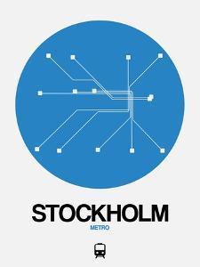 Stockholm Blue Subway Map by NaxArt