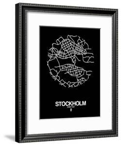 Stockholm Street Map Black by NaxArt