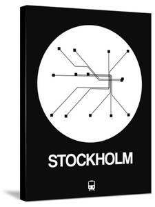 Stockholm White Subway Map by NaxArt