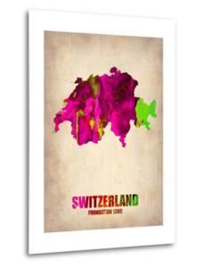 Switzerland Watercolor Map by NaxArt