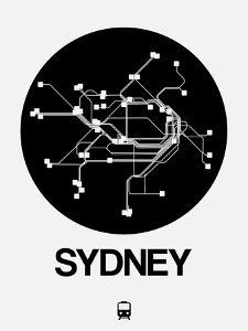 Sydney Black Subway Map by NaxArt