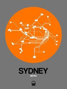 Sydney Orange Subway Map by NaxArt