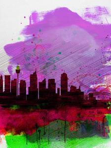 Sydney Watercolor Skyline 2 by NaxArt
