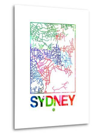 Sydney Watercolor Street Map