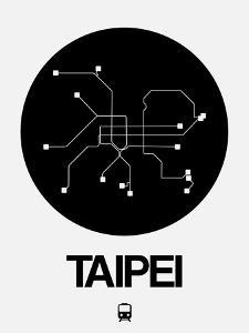 Taipei Black Subway Map by NaxArt