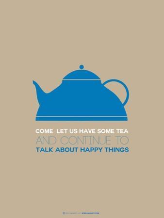 Tea Poster Blue